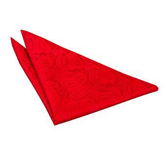 Praça de bolso de Paisley vermelha