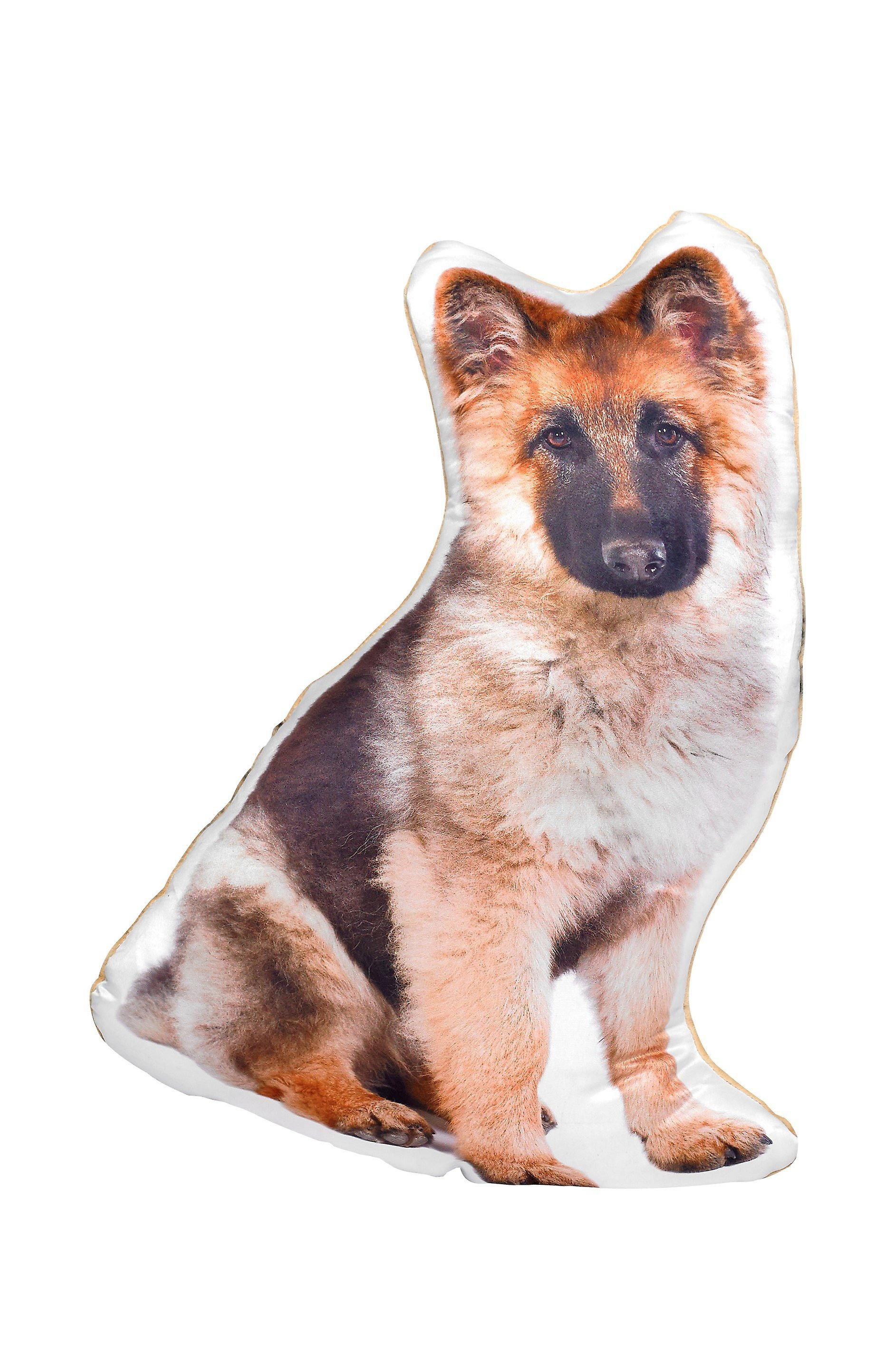 Adorable long haired german shepherd shaped cushion