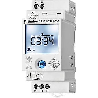 Finder DIN rail mount timer Operating voltage: 230 V DC, 230 V AC 12.61.8.230.0000 1 change-over 16 A 250 V AC Week settings