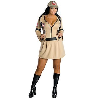 Ghostbuster Ghost Hunter sexiga licensierade kvinnor kostym Plus Size