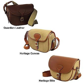 Guardian Heritage Cartridge bag 100 capacity leather or canvas - brass fittings