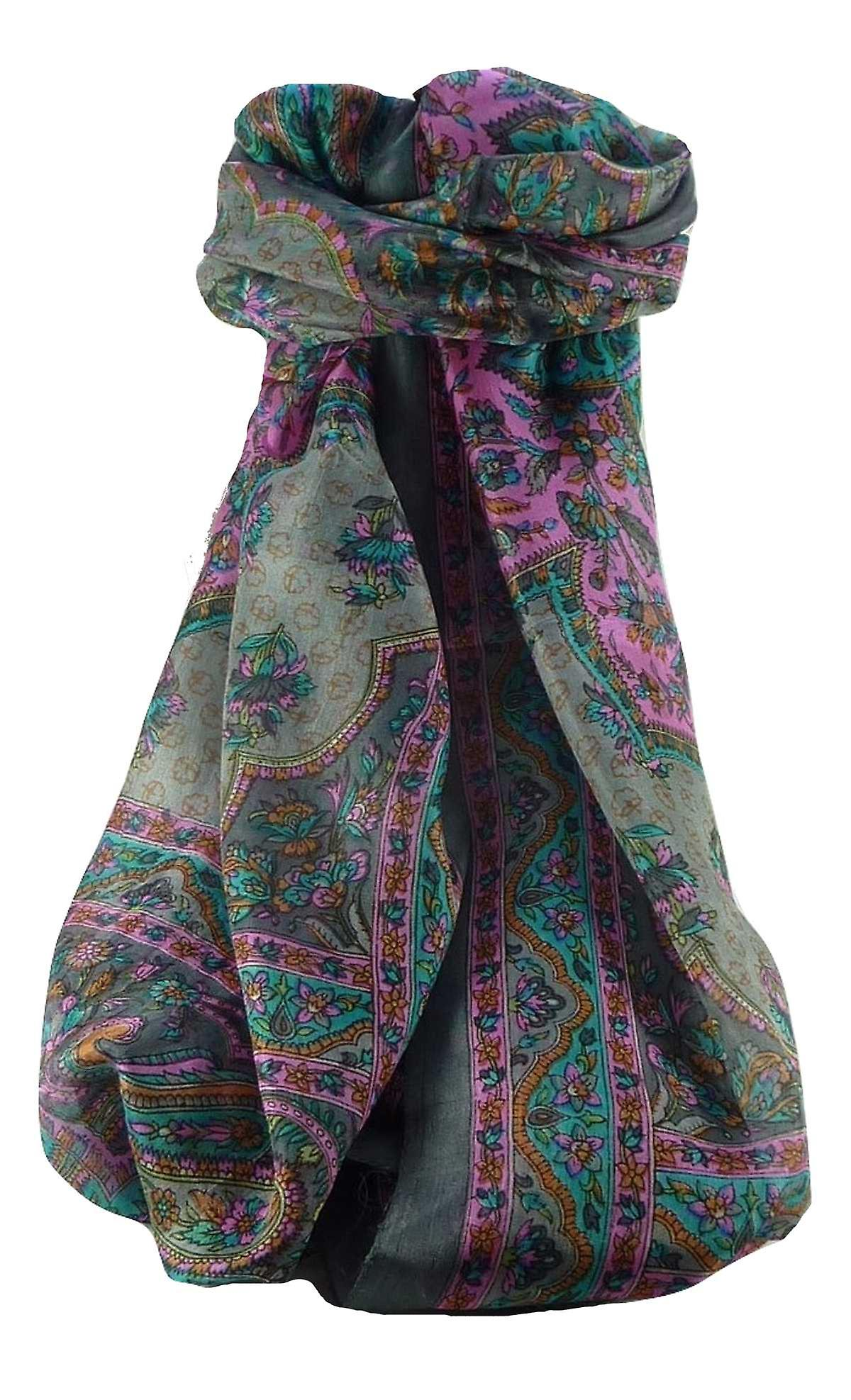 Mulberry Silk Traditional Long Scarf Cauver Charcoal by Pashmina & Silk