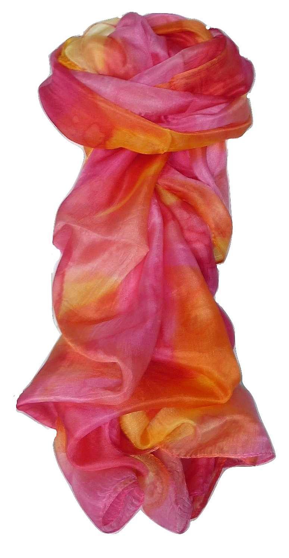 Mulberry Silk Hand Painted Long Scarf Classic Floribunda by Pashmina & Silk