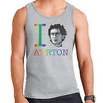 I Heart Ayrton Senna sateenkaari miesten liivi