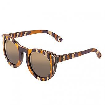 Spectrum Powers Wood Polarized Sunglasses - Multi/Brown