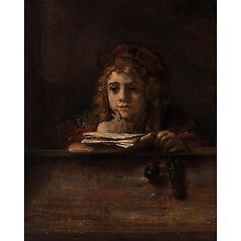 Titus à son bureau, Rembrandt, 50x40cm