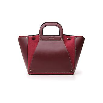 Michael Kors 30f8g1ct4s914 Women's Burgundy Leather Tote