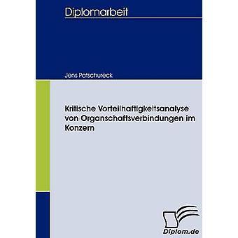 Kritische Vorteilhaftigkeitsanalyse von Organschaftsverbindungen im Konzern af Patschureck & Jens