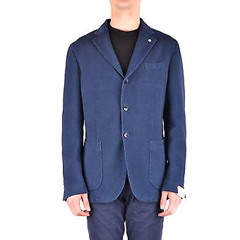 L.b.m. Ezbc215009 Men's Blue Cotton Blazer