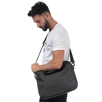 Ben Sherman Laptop Bag In Charcoal- One Main Zip Compartment- Adjustable,