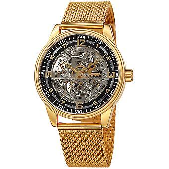 Akribos XXV AK1074YGB montre-bracelet automatique pour homme en maille squelettique