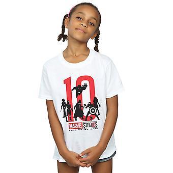 Marvel Studios Girls la primera camiseta de diez años