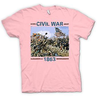Мужская футболка - американской гражданской войны 1863 - вдохновил войны