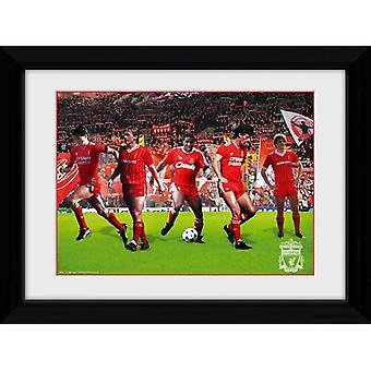 Liverpool leggende incorniciato stampa 40x30cm Collector