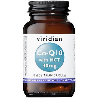 Viridian الإنزيم المشارك Q10 30mg مع MCT الخضار قبعات 30 (360)