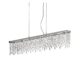 7 Light  Large Ceiling Pendant Bar Chrome