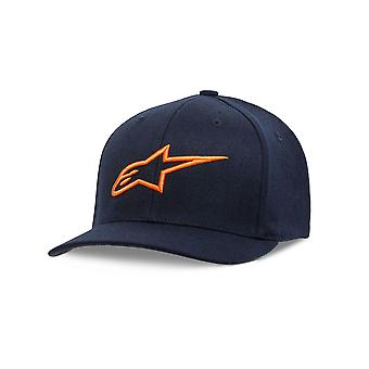 Alpinestars Mens Curve Flexfit Cap ~ Ageless navy/orange