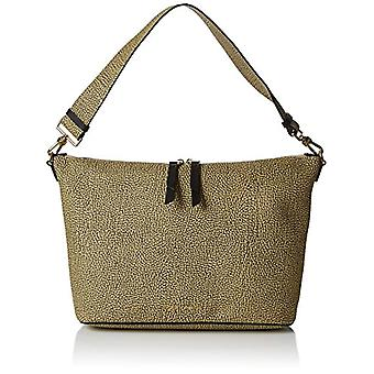 Borbonese Hobo Small Green Women's Shoulder Bag (Safari) 30x24x12.5 cm (W x H x L)