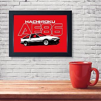 AE86 Hachiroku JDM Tuner Deriva Auto Muro Muro Arte Cucina Bagno Uomo Cave