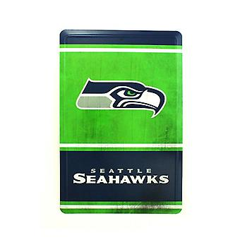 Seattle Seahawks NFL Team Logo Tin Sign
