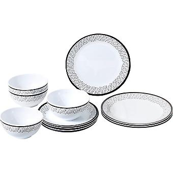 Brunner Pralin 12 stuk middag melamine servies set