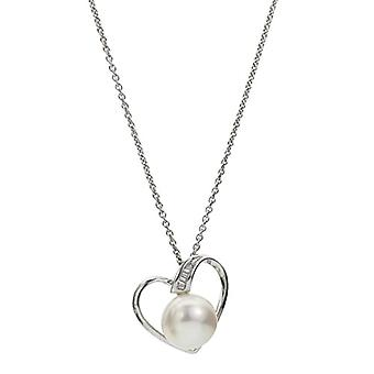 Adriana Collane Silver Woman 9-carat Zirconia cubic Pearls grown d'fresh water A61