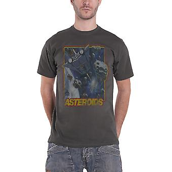 Atari T Shirt Asteroids retro gaming vintage new Official Mens grey