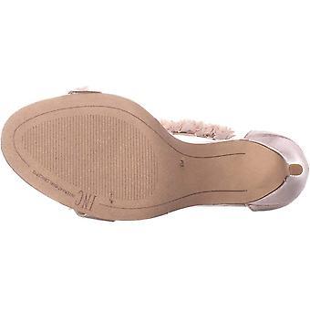INC Femme Rosiee 2 Satin T-Strap Dress Sandals