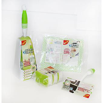 Bentley Green and Clean Bathroom 4 Piece Cleaning Toilet Brush et Holder Set