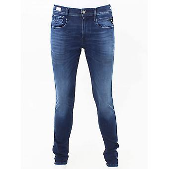 Replay Hyperflex Eco Performance Jean-Mid Blue