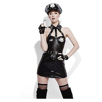 Womens Cop Wet Look Outfit