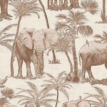 Voyages Elephant Grove Wallpaper Arthouse
