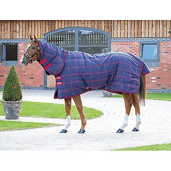Shires Tempest Plus 200 Combo Stable Rug - Navy/red Check