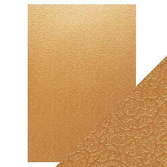 Tonic Studios hantverk perfekt A4 lyx präglade kort, brons labyrint, 30 x 21,5 x 0,5 cm