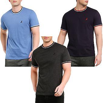Brave Soul Federer Short Sleeve Casual Regular Crew Neck T-shirt Tee Top