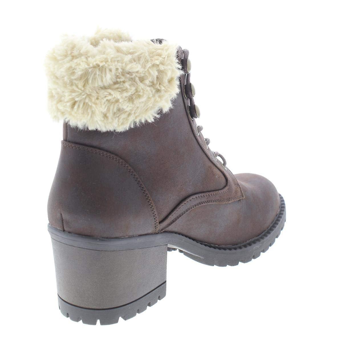 Cliffs Par White Mountain Womens Tori Fabric Round Toe Ankle Fashion Boots