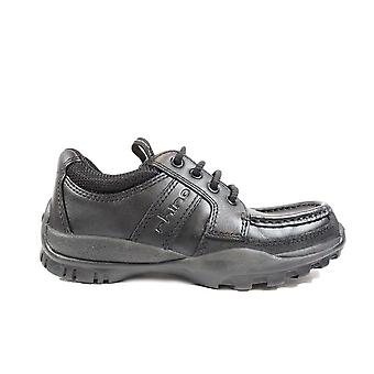 Startrite Anaconda Black Leather Boys Lace Up School Shoes