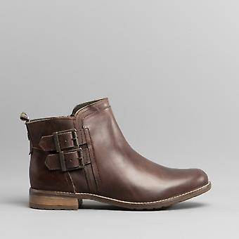 Barbour Sarah Ladies Leather Ankle Boots Wine