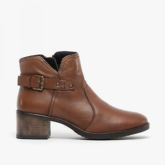 Lotus Tapti Ladies Leather Ankle Boots Tan