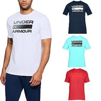 Under Armour Herren Team Ausgabe Wordmark Sport Training Gym T Shirt