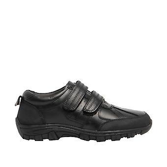 Roamers Boys Twin Touch Fastening Leather Shoe