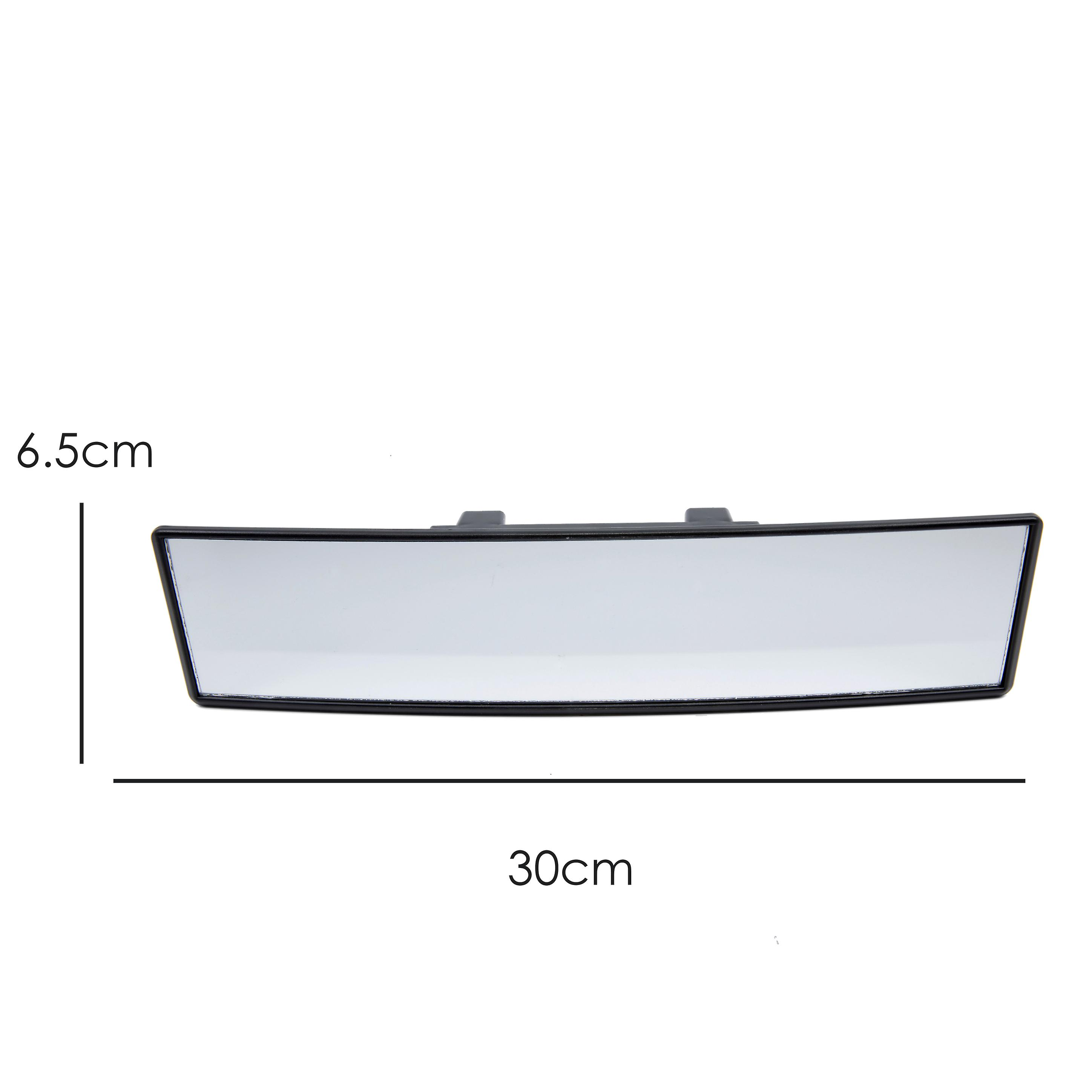 TRIXES Extra Wide Curved Rear View Mirror 300mm Clip-On Panoramic Blind Spot Learner Driver