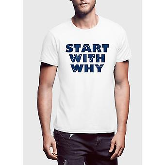 Start with why half sleeves t-shirt