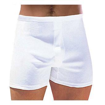 Mens Classic bomull stammen boxare underkläder 2 Pack