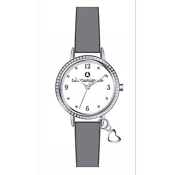 Watch Lulu Castanet 38874 - leather grey woman girl