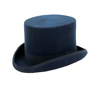 Dobell Mens Navy Top Hat 100% Wool Formal Wedding Races Partywear