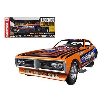 1971 Dodge Charger Tom Hoover White Bear NHRA Divertente Auto 1/18 Model Car di Autoworld