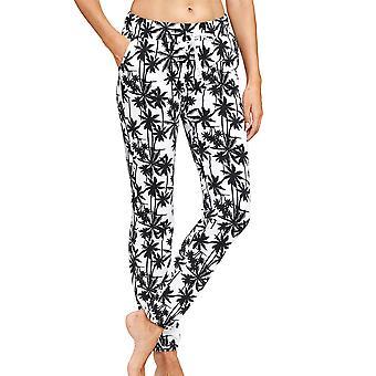 R-sch 1202003-16071 Mujeres's Be Happy White Palm Beach Pyjama Pantalón