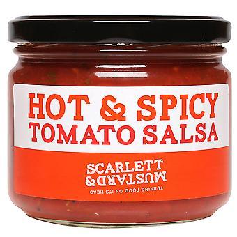 Scarlett & Mustard Hot and Spicy Tomato Salsa