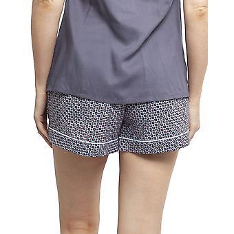 Cyberjammies 4396 Kvinnor & apos, s Olivia Blue Geo Print Bomull Pyjamas Kort